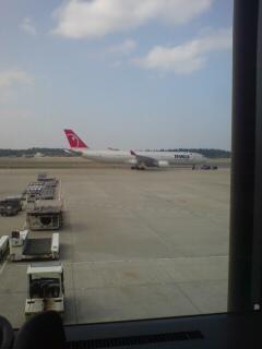 成田発北京行き
